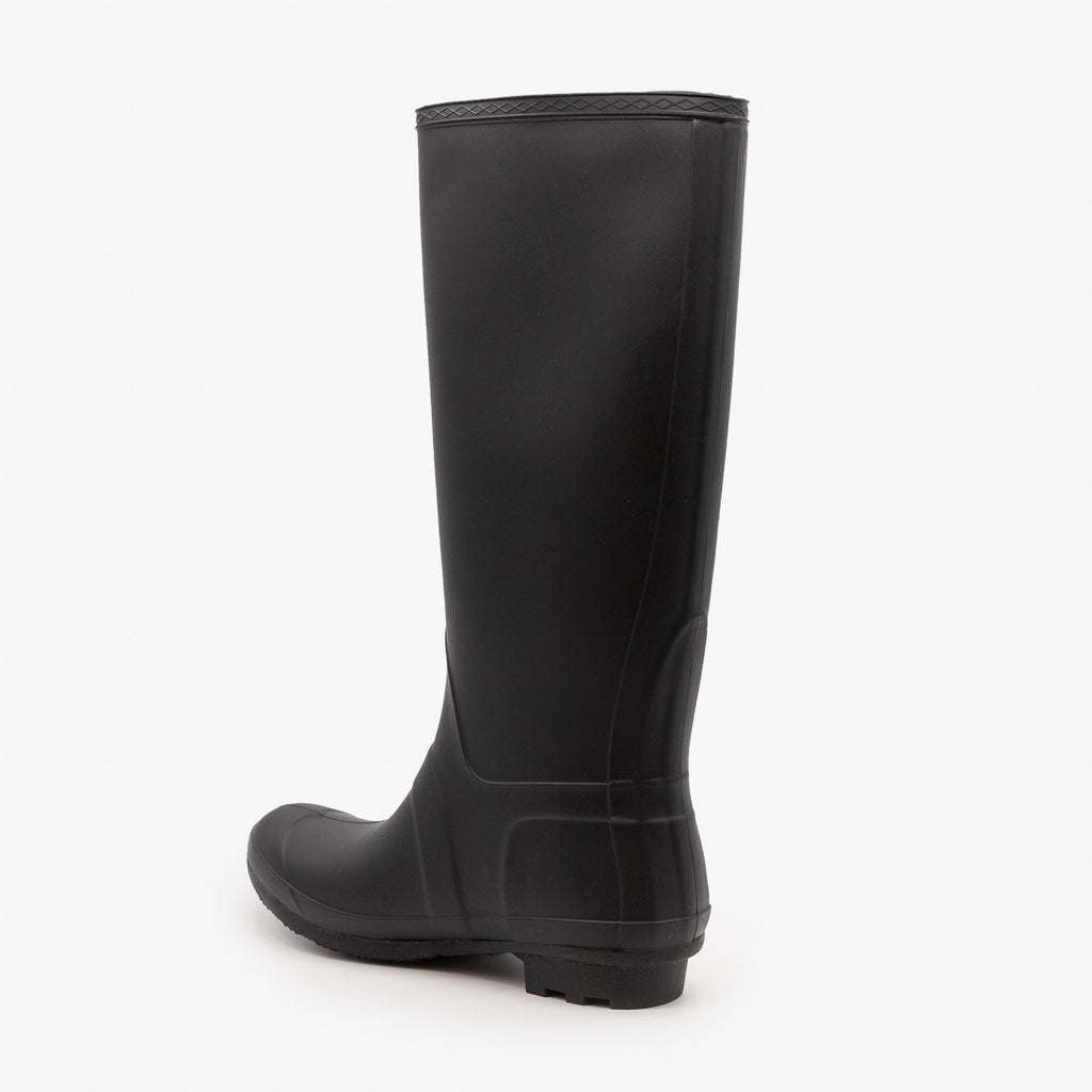 Womens Side Buckle Rain Boots - Forever