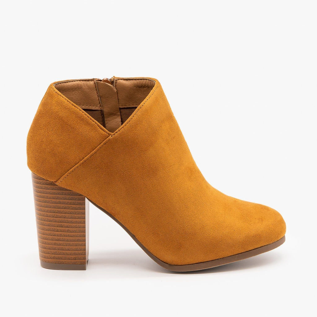 Womens Side Cut Ankle Booties - Refresh - Tan / 5