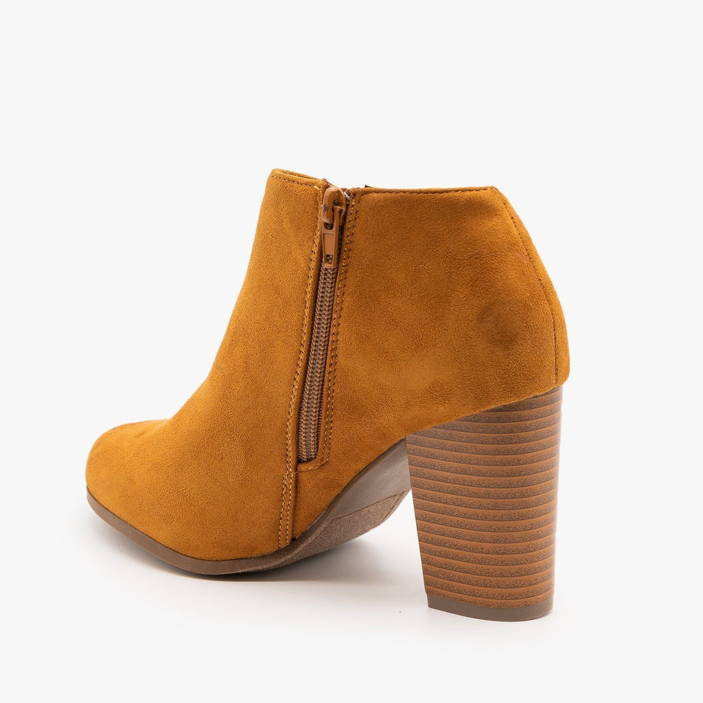 Womens Side Cut Ankle Booties - Refresh