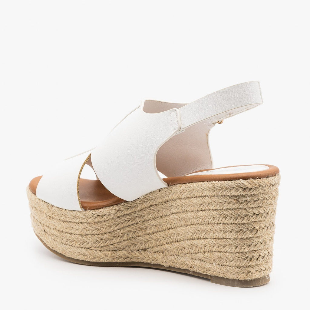 Womens Side Cutout Espadrille Wedges - Refresh