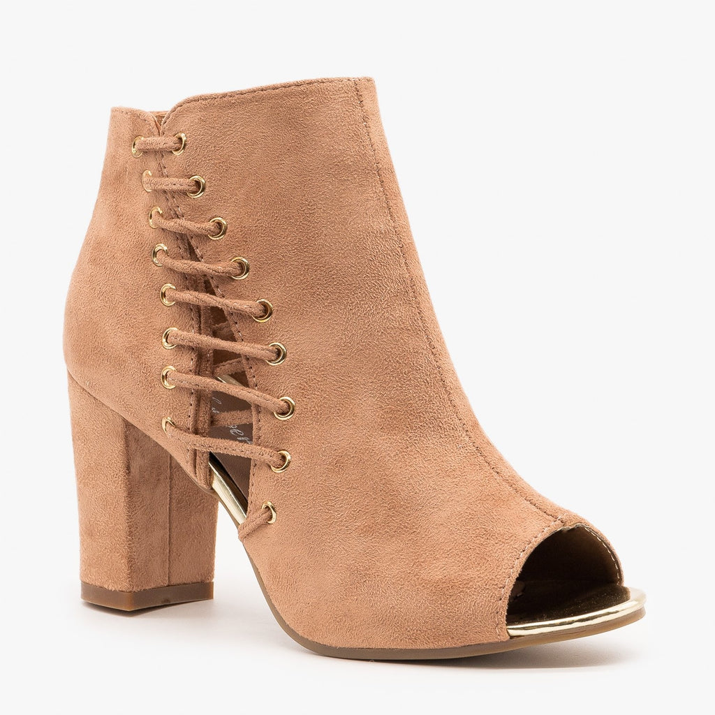 Womens Side Laced Heels - Forever