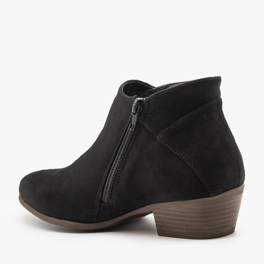 Womens Side Zipper Fashion Boots - Refresh