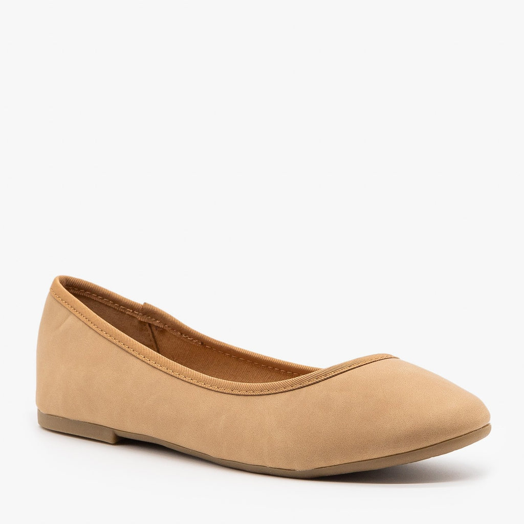 Womens Simple Chic Ballet Flats - Bamboo Shoes