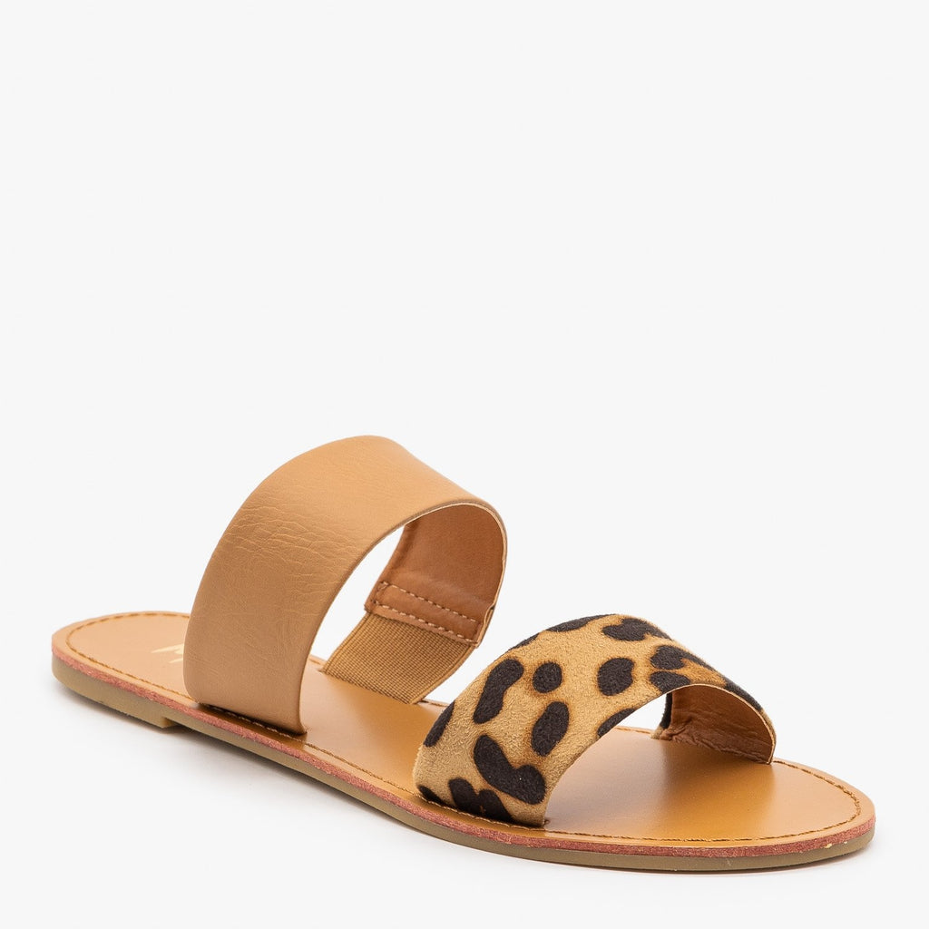 Womens Simple Leopard Print Sandals - Mixx Shoes