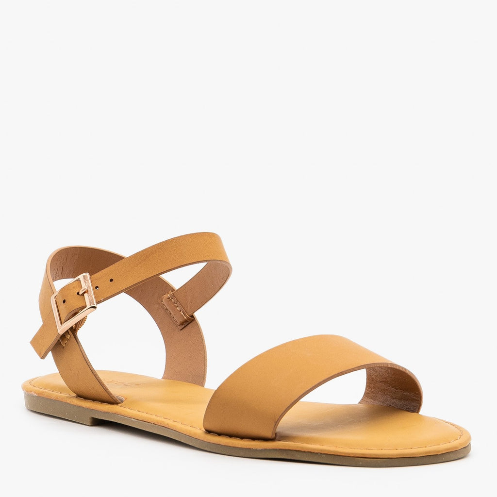 Womens Simple Slingback Sandals - Bamboo Shoes