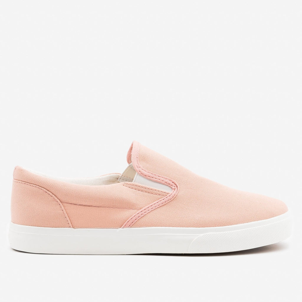 Women's Simple Slip on Sneaker - Nature Breeze - Blush / 5