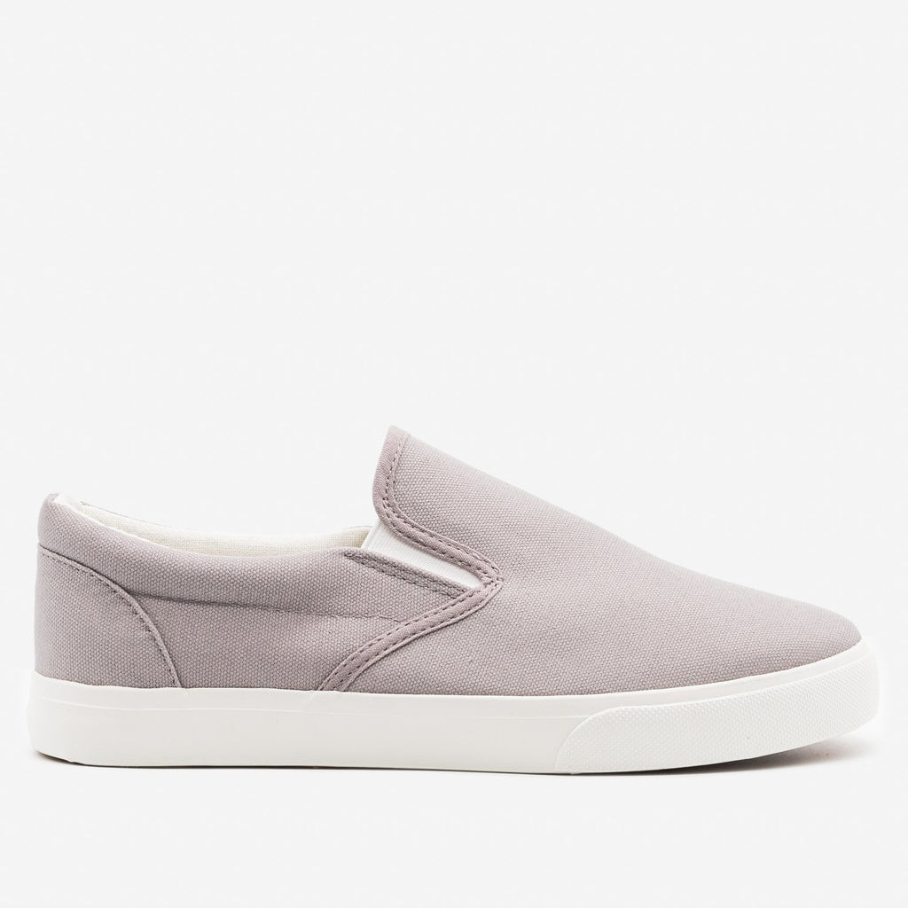 Women's Simple Slip on Sneaker - Nature Breeze - Gray / 5