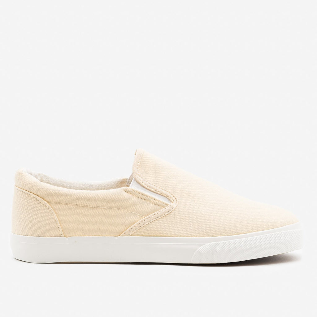 Women's Simple Slip on Sneaker - Nature Breeze - Cream / 5