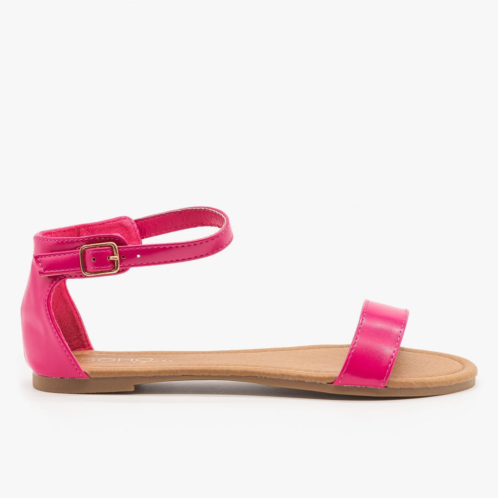 Womens Simple Summer Sandals - Soho Girls - Fuchsia / 5