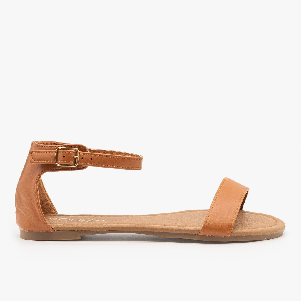 Womens Simple Summer Sandals - Soho Girls - Tan / 5