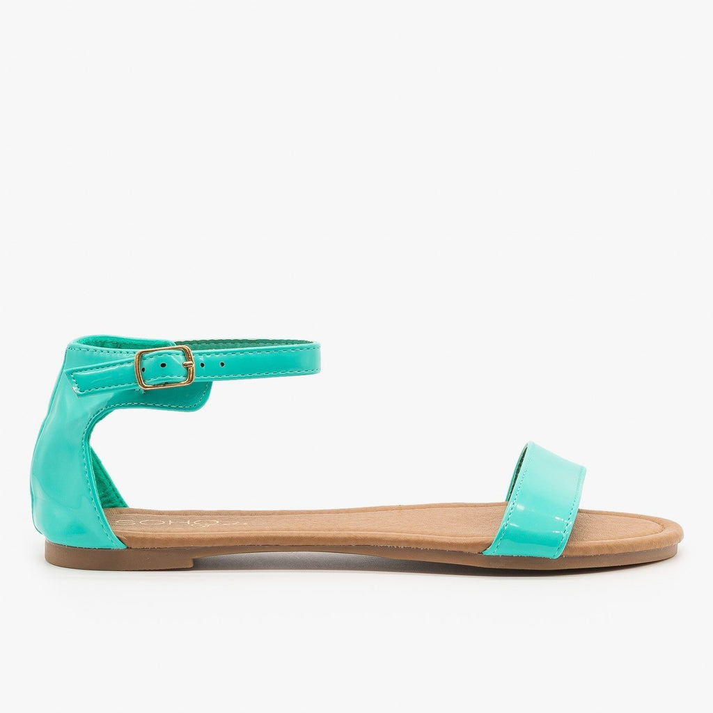Womens Simple Summer Sandals - Soho Girls - Aqua / 5