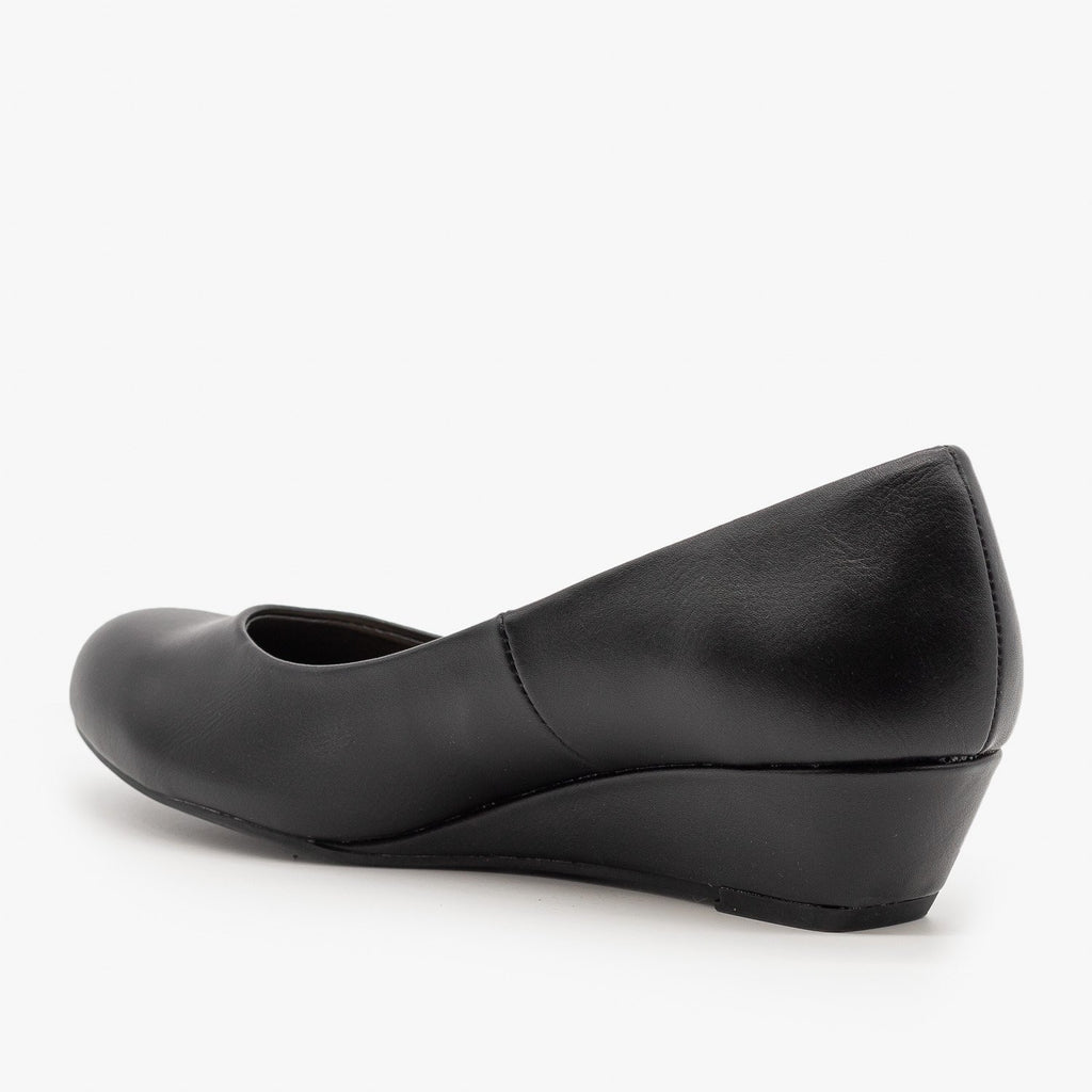 Womens Simple Wedge Pumps - City Classified Shoes