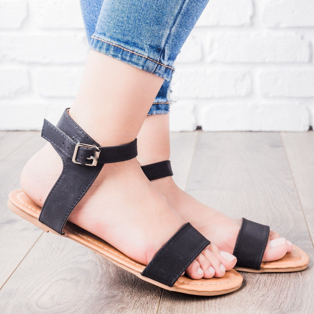 Womens Single Strap Sandals - Anna Shoes