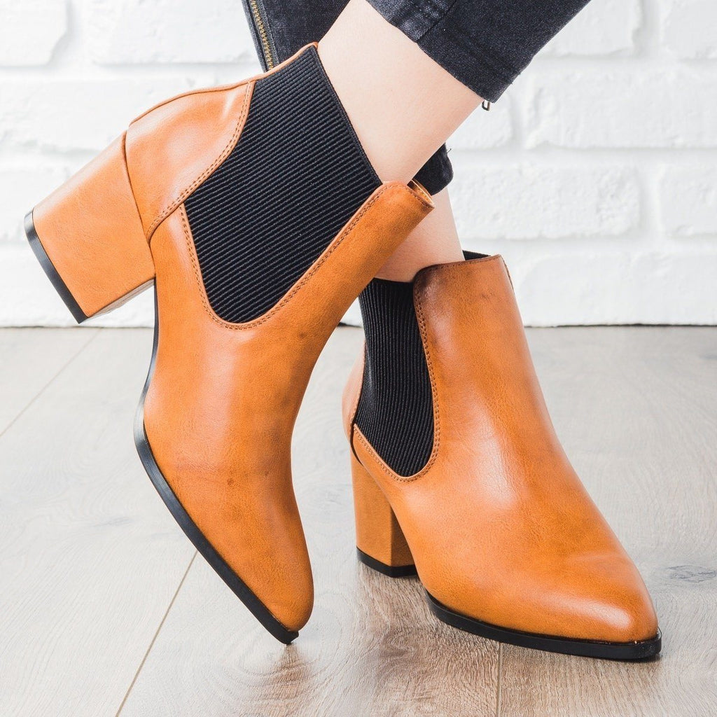 Womens Sleek Chic Fall Booties - Bamboo Shoes