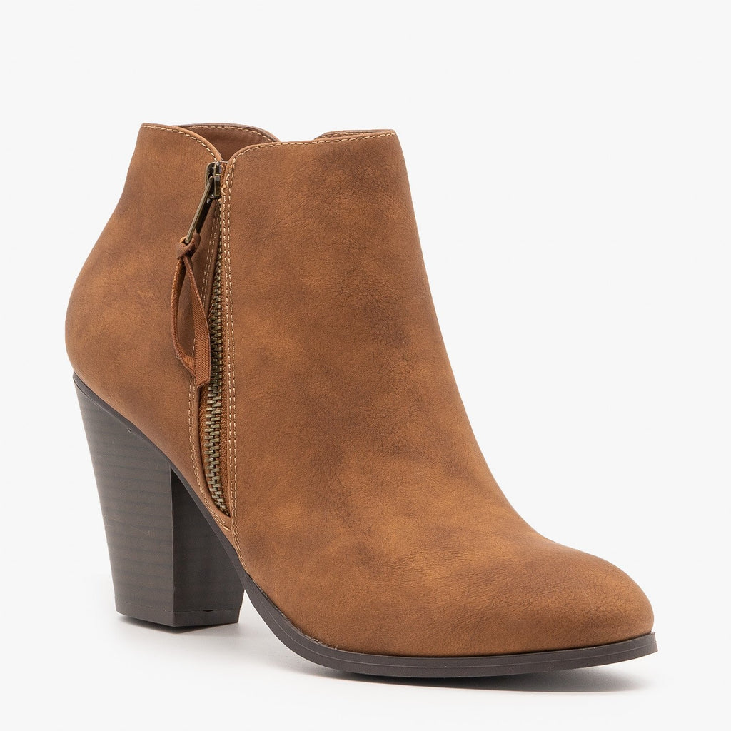 Womens Sleek Essential Fashion Booties - City Classified Shoes