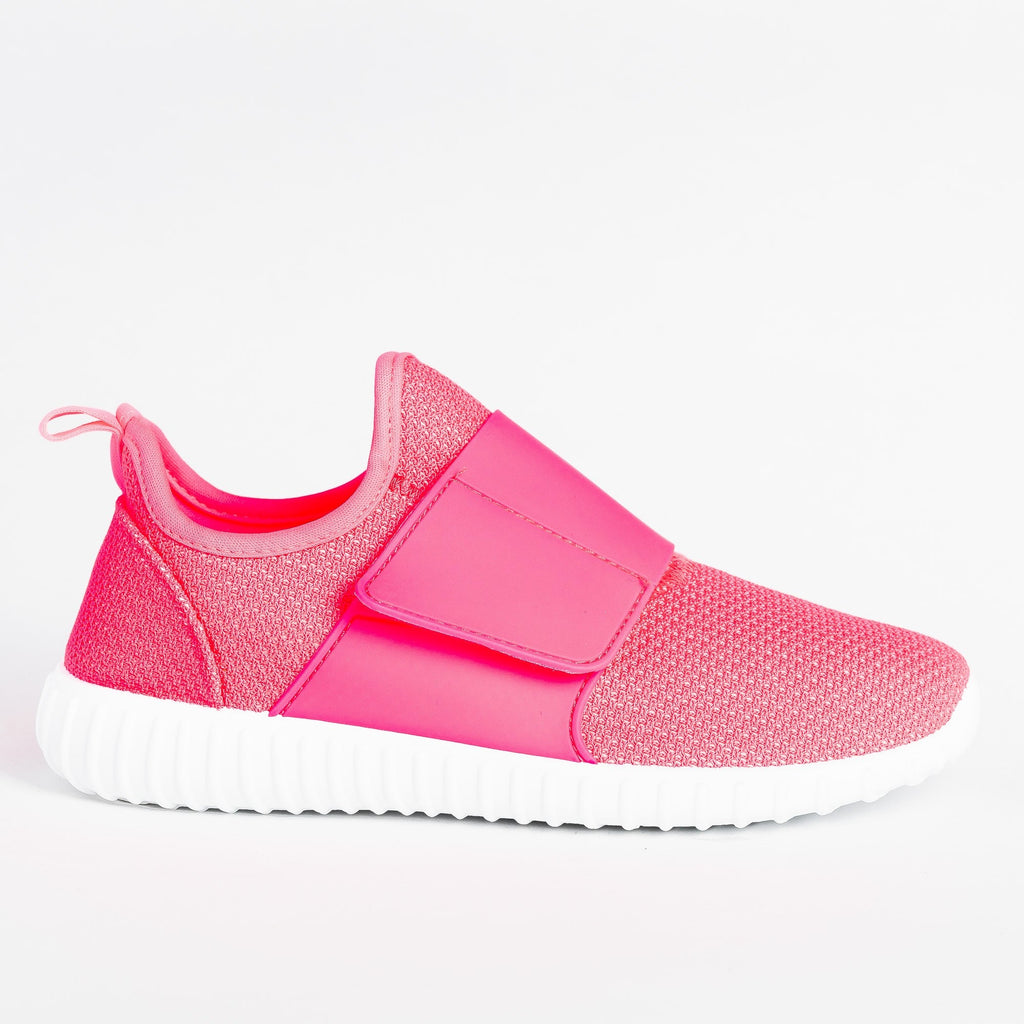 Womens Sleek Mesh Athletic Sneakers - Yoki - Fuschia / 5