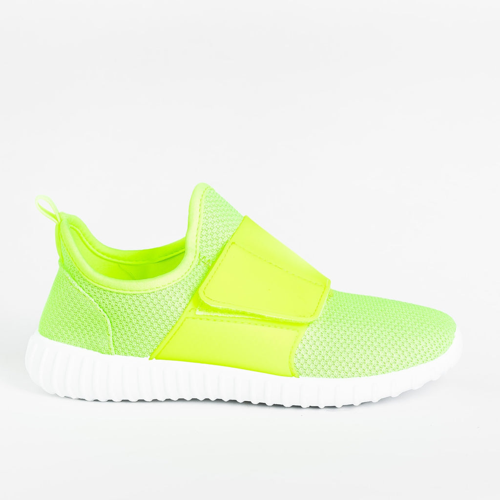 Womens Sleek Mesh Athletic Sneakers - Yoki - Lime / 5