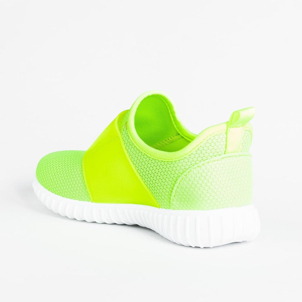 Womens Sleek Mesh Athletic Sneakers - Yoki