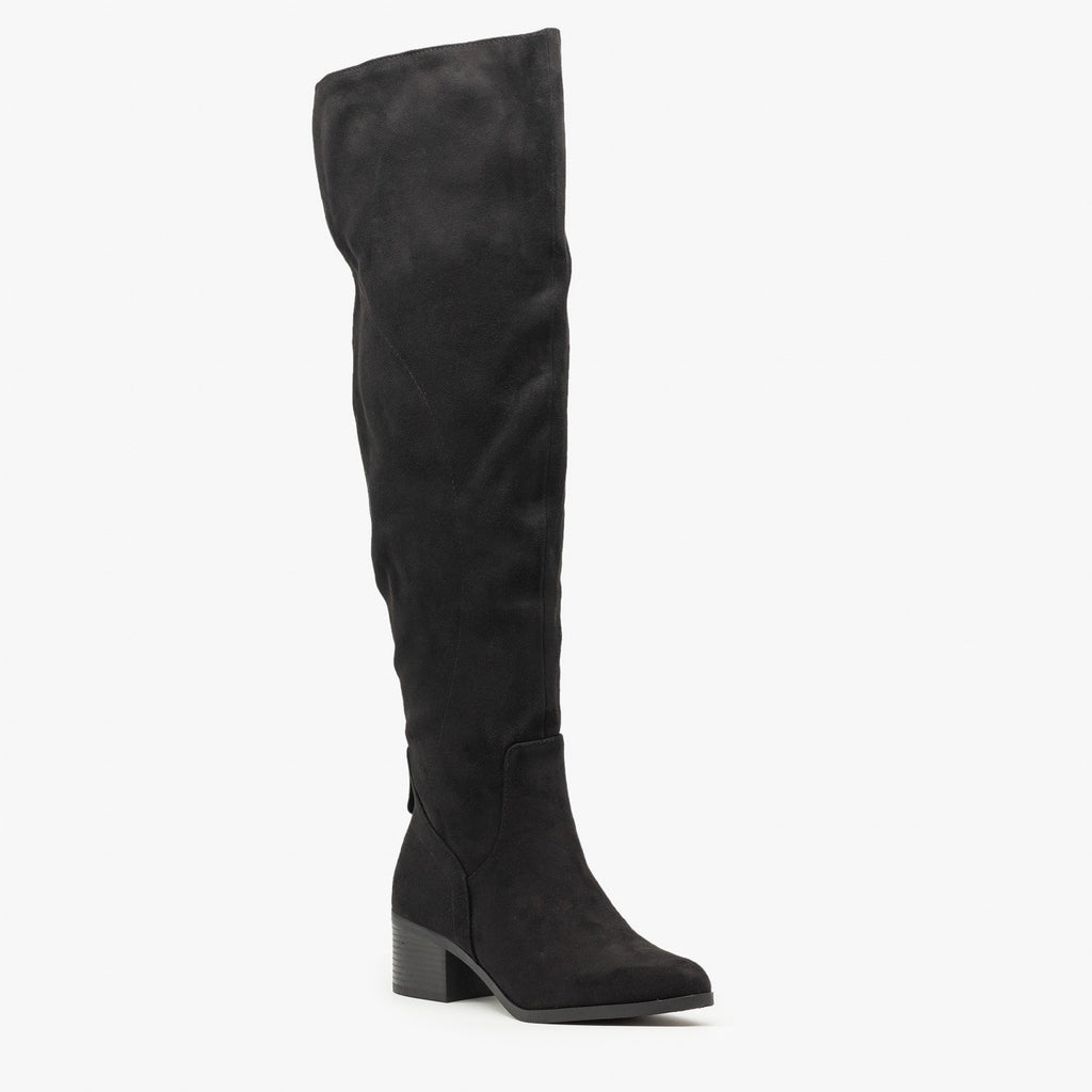 Womens Sleek Thigh High Boots - Soda Shoes