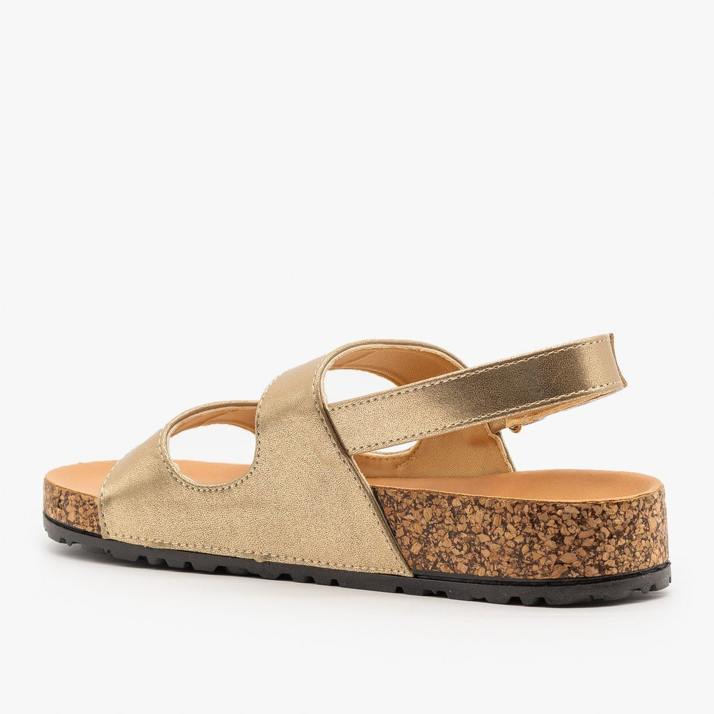 Womens Slingback Cork Slides - Qupid Shoes