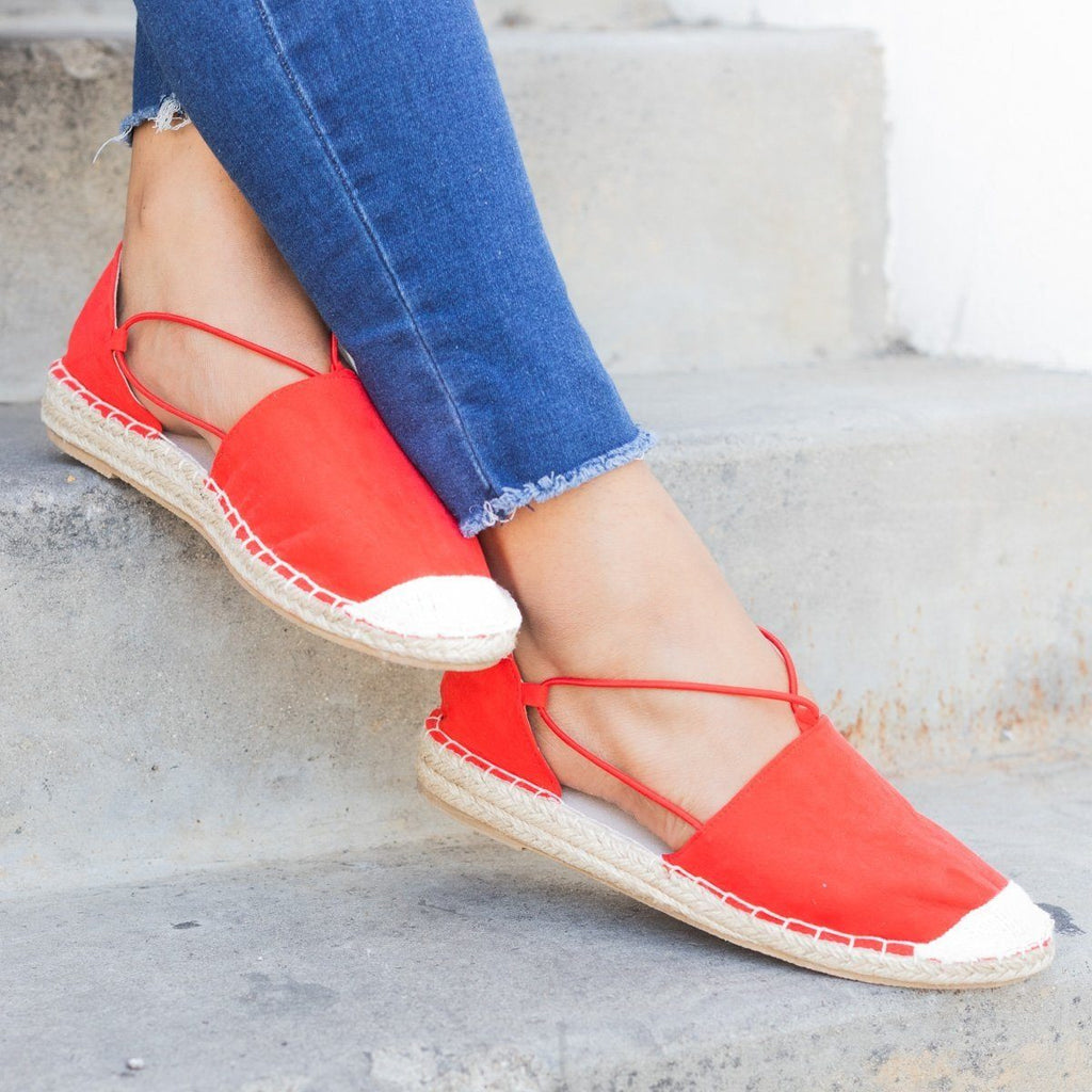 Womens Slip-On Espadrille Flats - Qupid Shoes