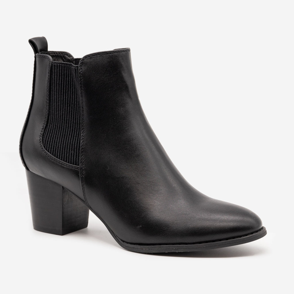 Women's Slip-on Everyday Booties - Novo Shoes - Black / 5