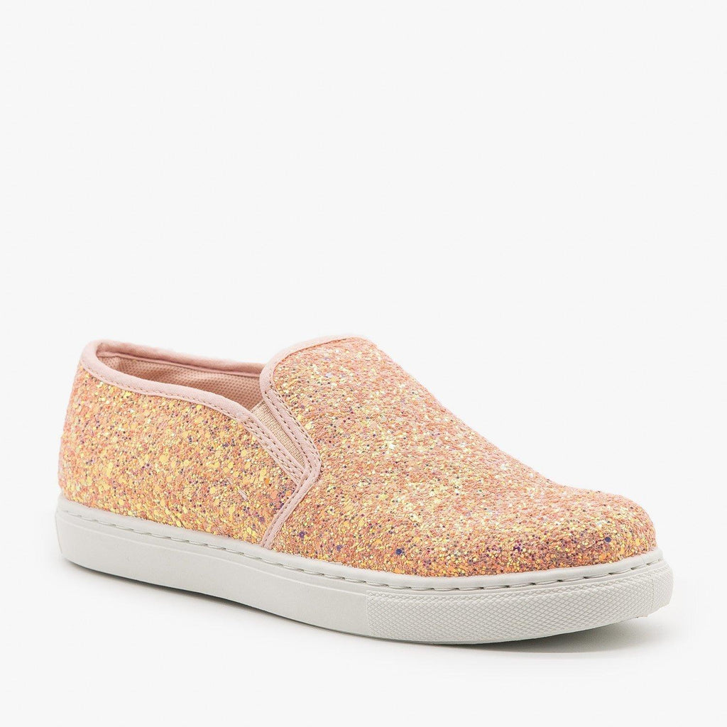 Womens Slip-On Glitter Sneakers - Anna Shoes - Unicorn / 8.5