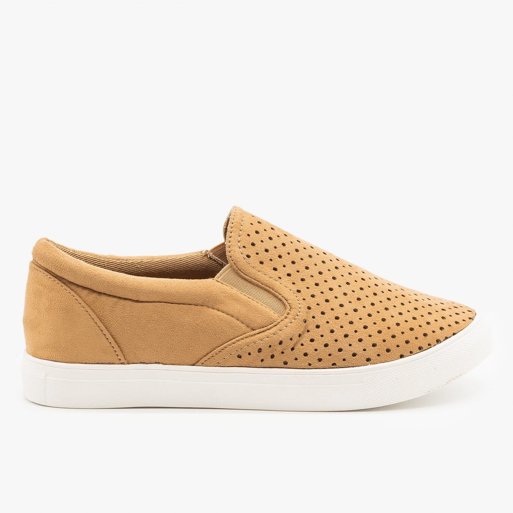 Womens Slip On Pinhole Sneakers - La Sheelah Shoes