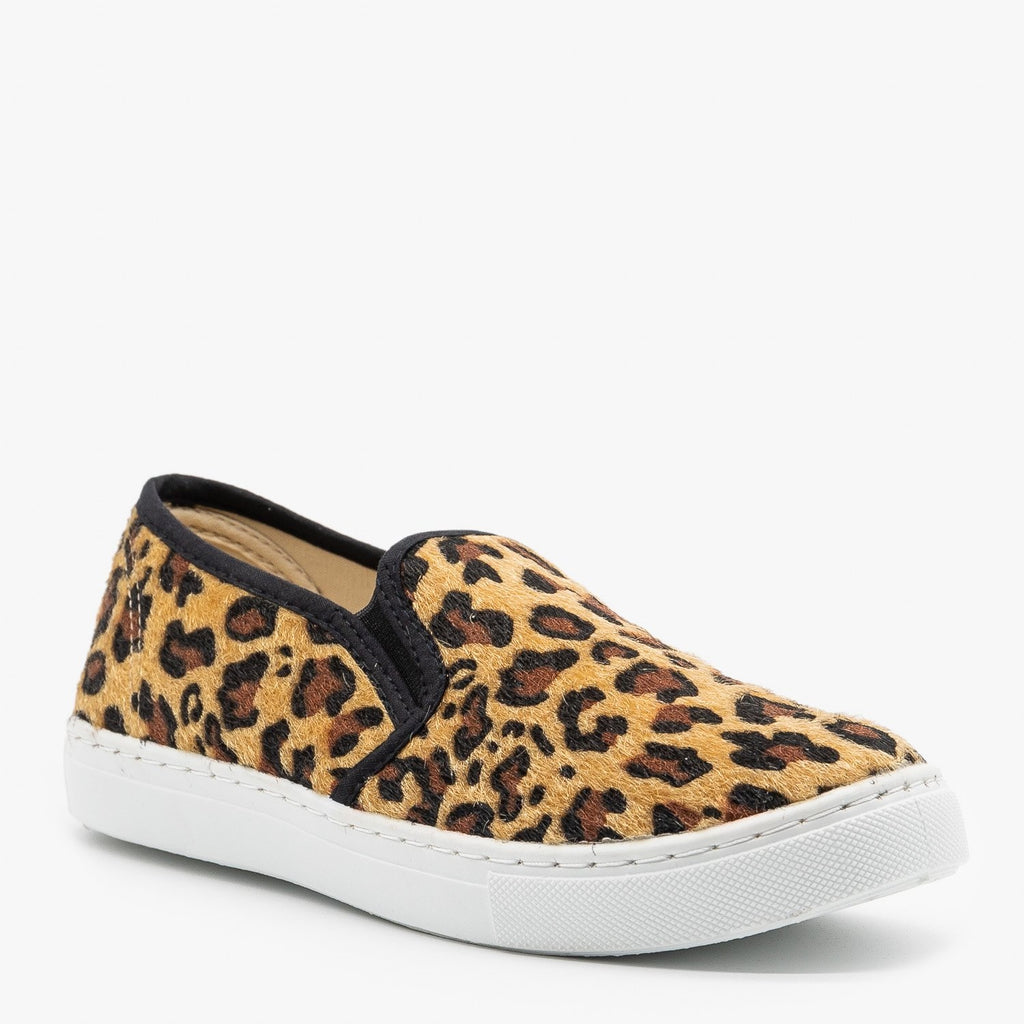 Womens Slip-On Summer Sneakers - Anna Shoes - Leopard / 5