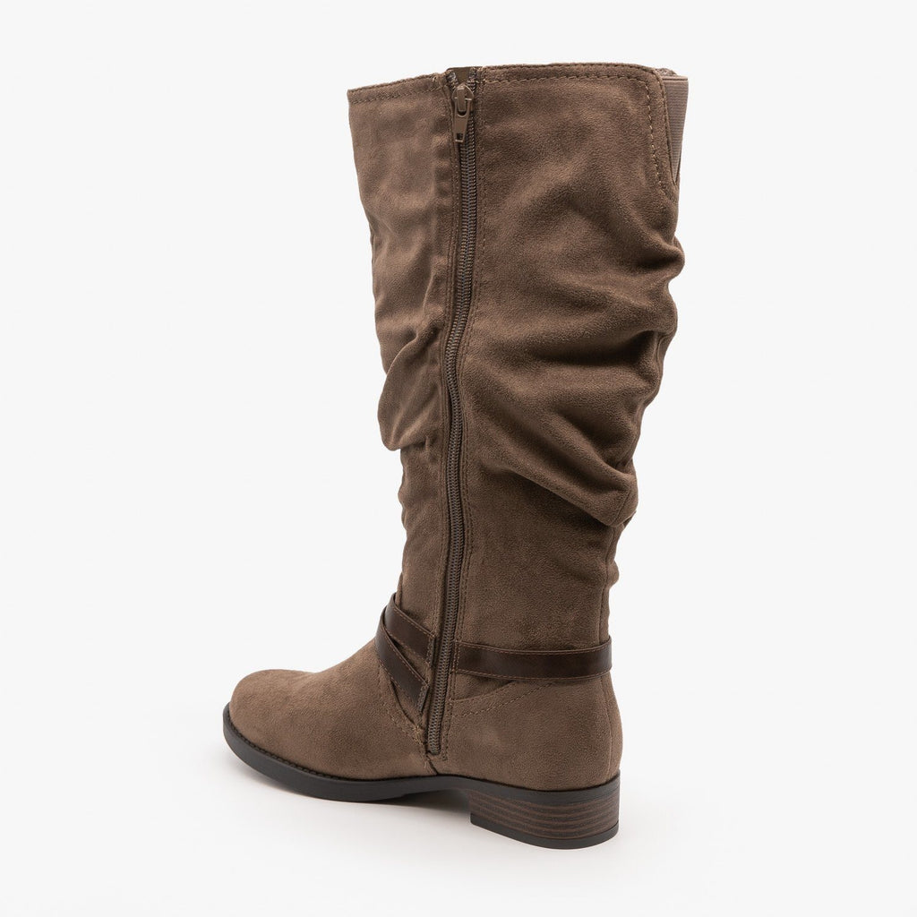 Womens Slouchy Belted Boots - Soda Shoes