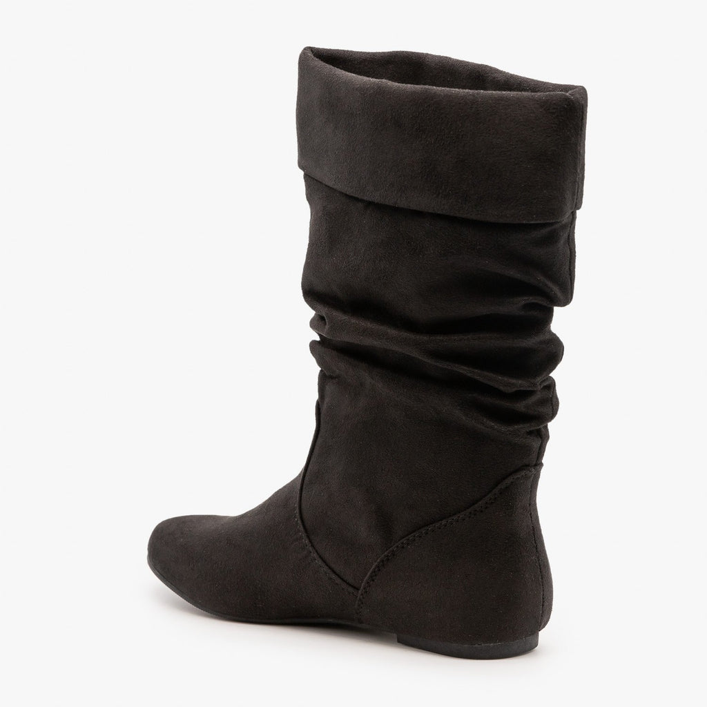 Womens Slouchy Mid-Calf Boots - Soda Shoes