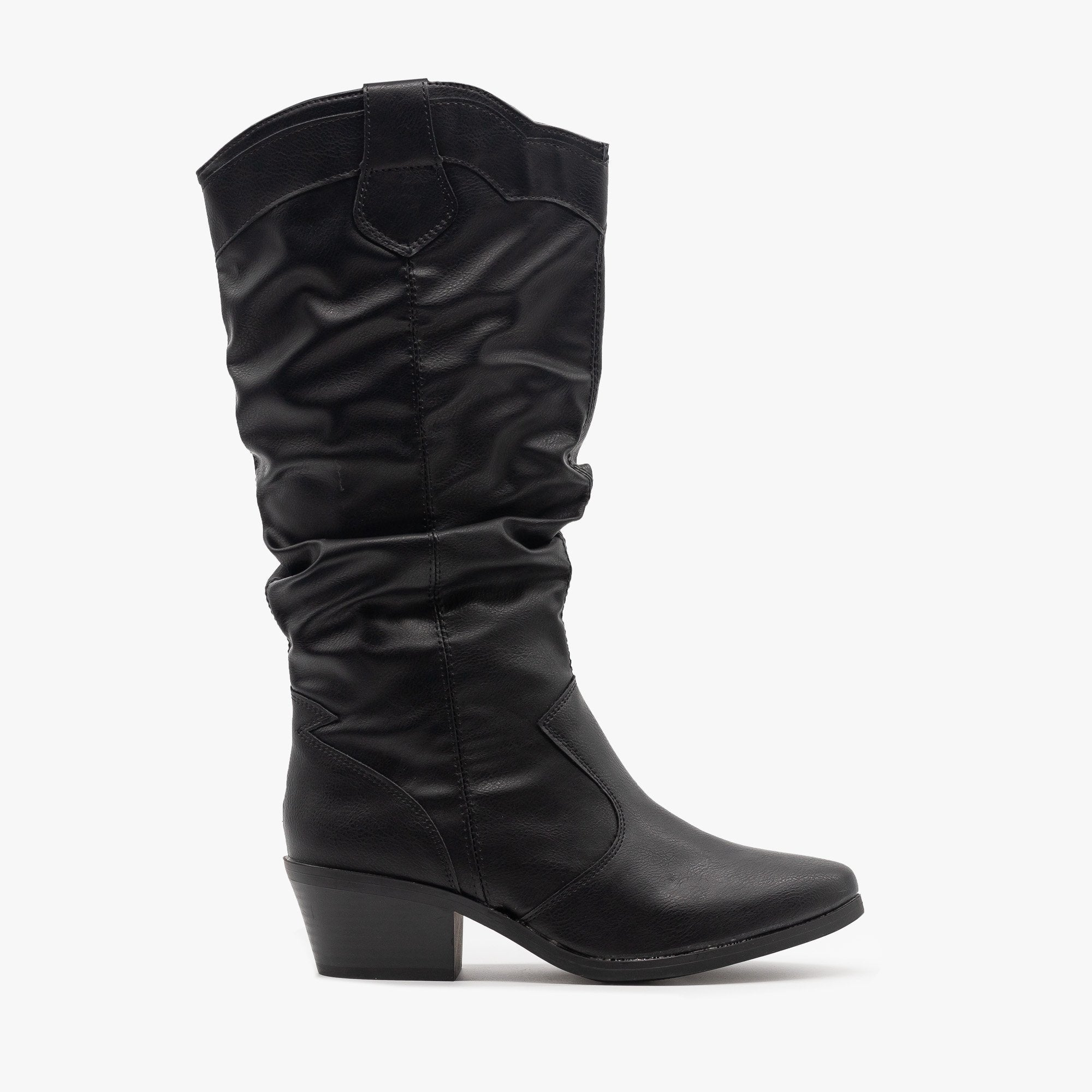 Slouchy Mid Calf Cowboy Boots