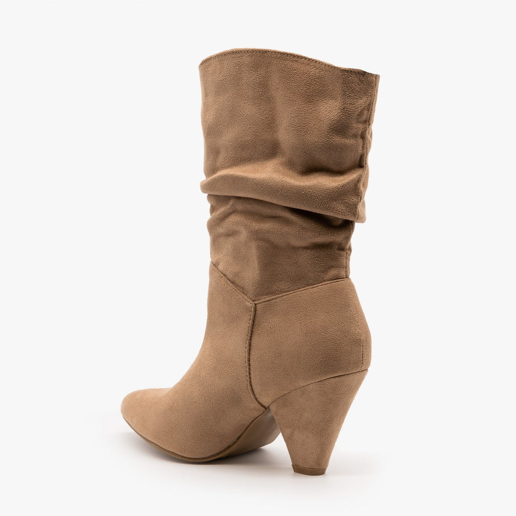 Womens Slouchy Mid Calf Diva Boots - Nature Breeze
