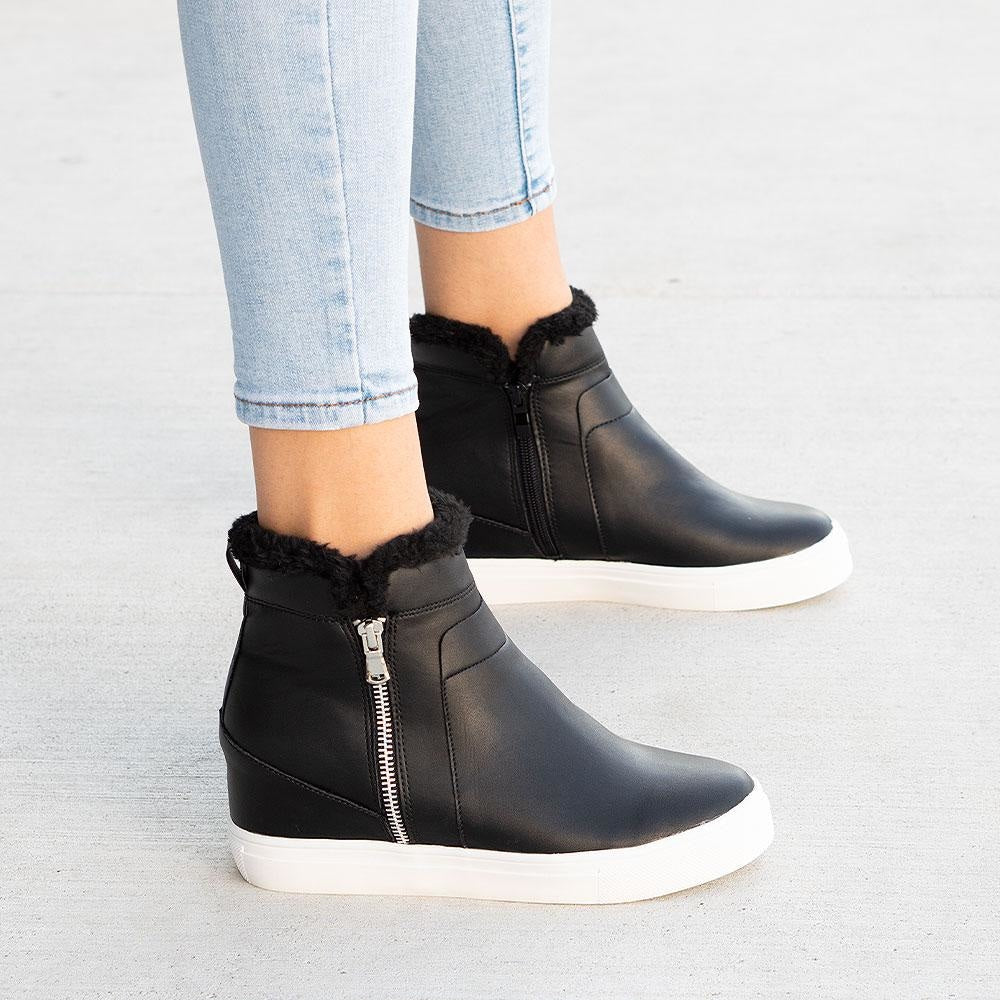 Women's Smooth Wedged Sneakers - Forever