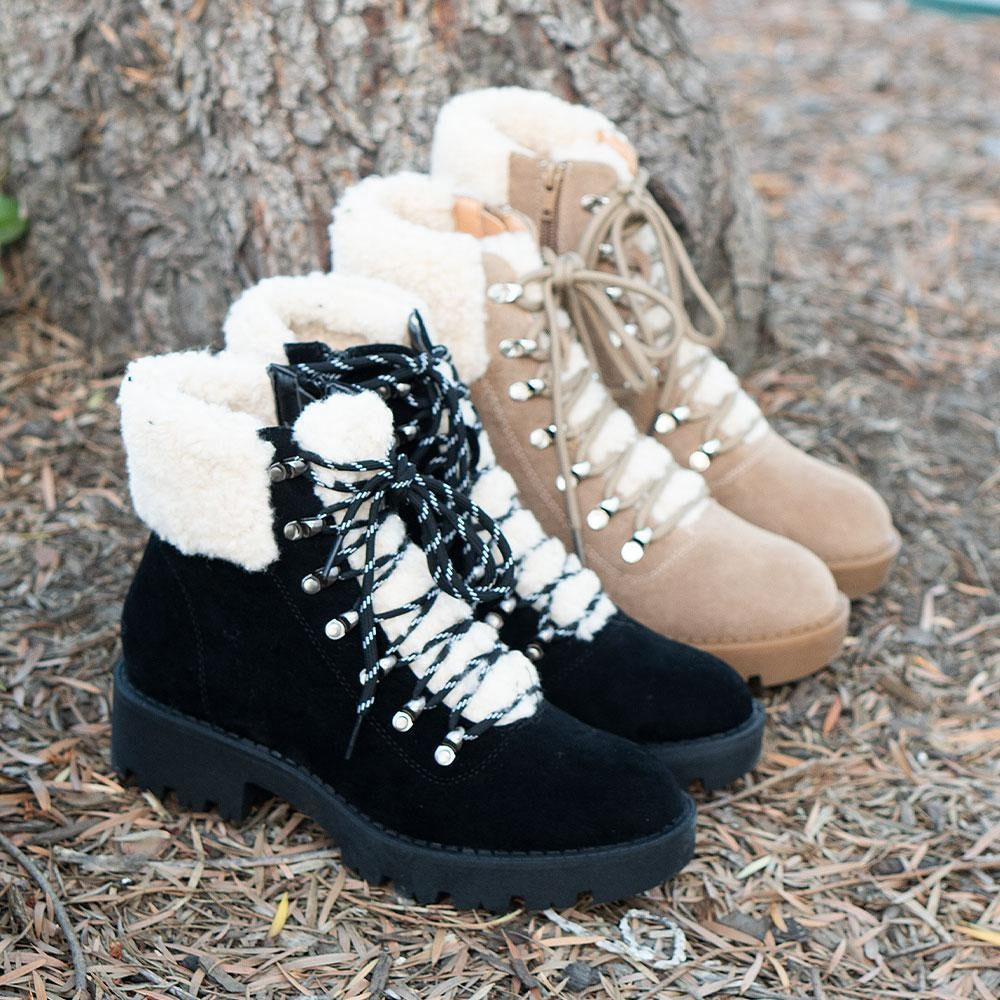 Women's Soft Combat Styled Boots - Mata