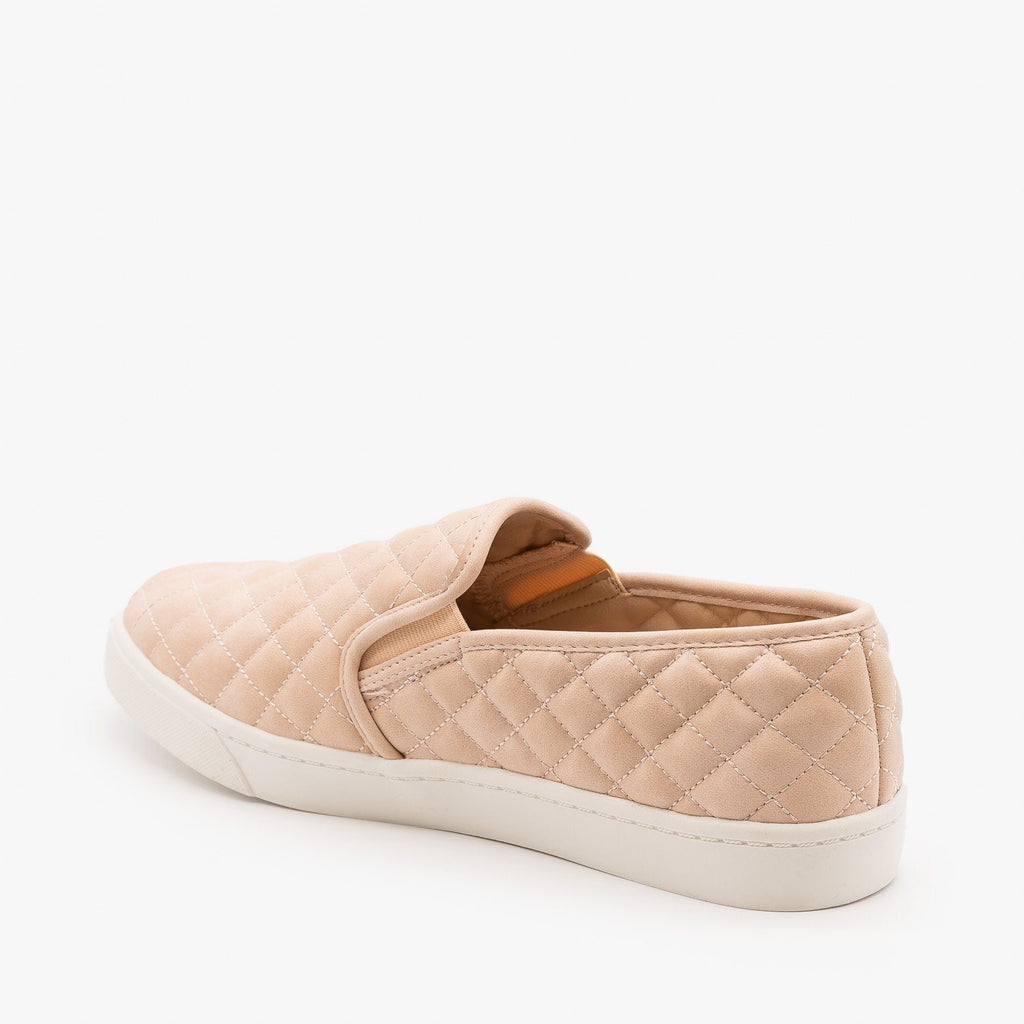 Womens Soft Quilted Slip-On Sneakers - Soda Shoes