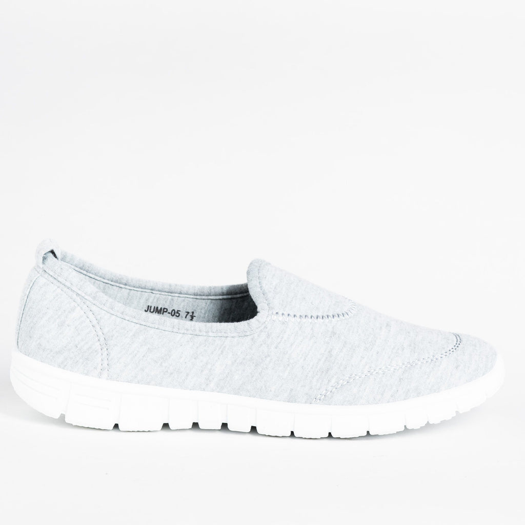 Womens Soft Slip-On Sneakers - Refresh - Gray / 5