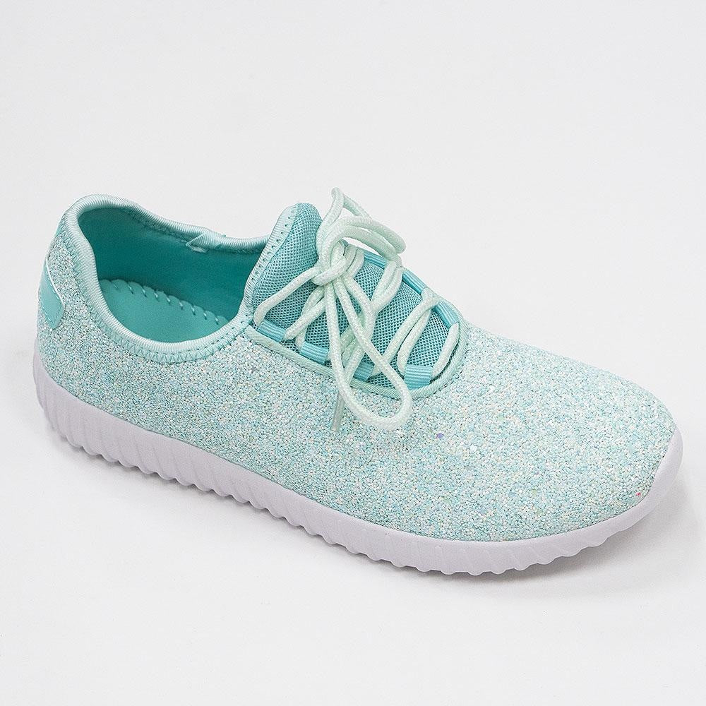 Women's Sparkle Mist Sneakers - Forever - Mint / 5
