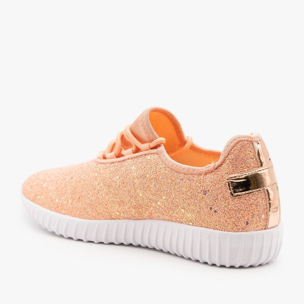 Womens Sparkly Glitter Sneakers - Forever