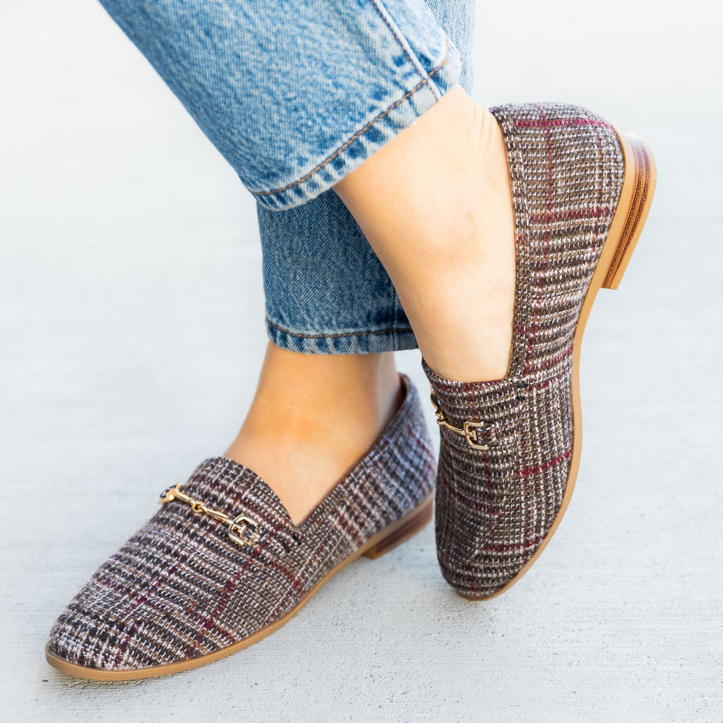 Women's Spiffy Plaid Loafers - Mata
