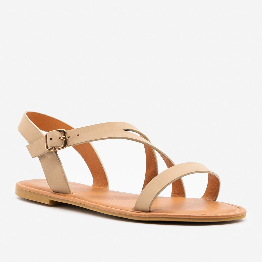 Women's Split Strap Sandals - Bamboo Shoes