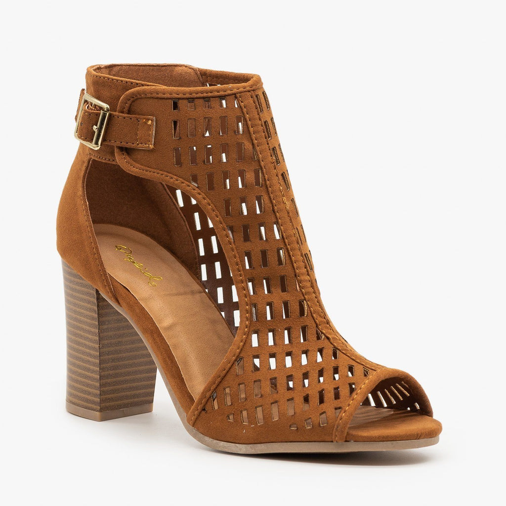 Womens Statement Cutout Heels - Qupid Shoes