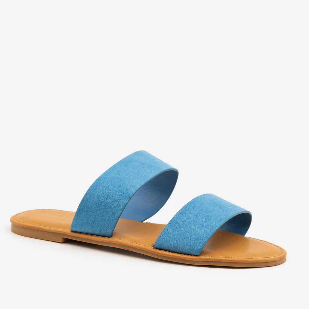 Women's Statement Sandals - Sunny Feet - Light Blue / 5