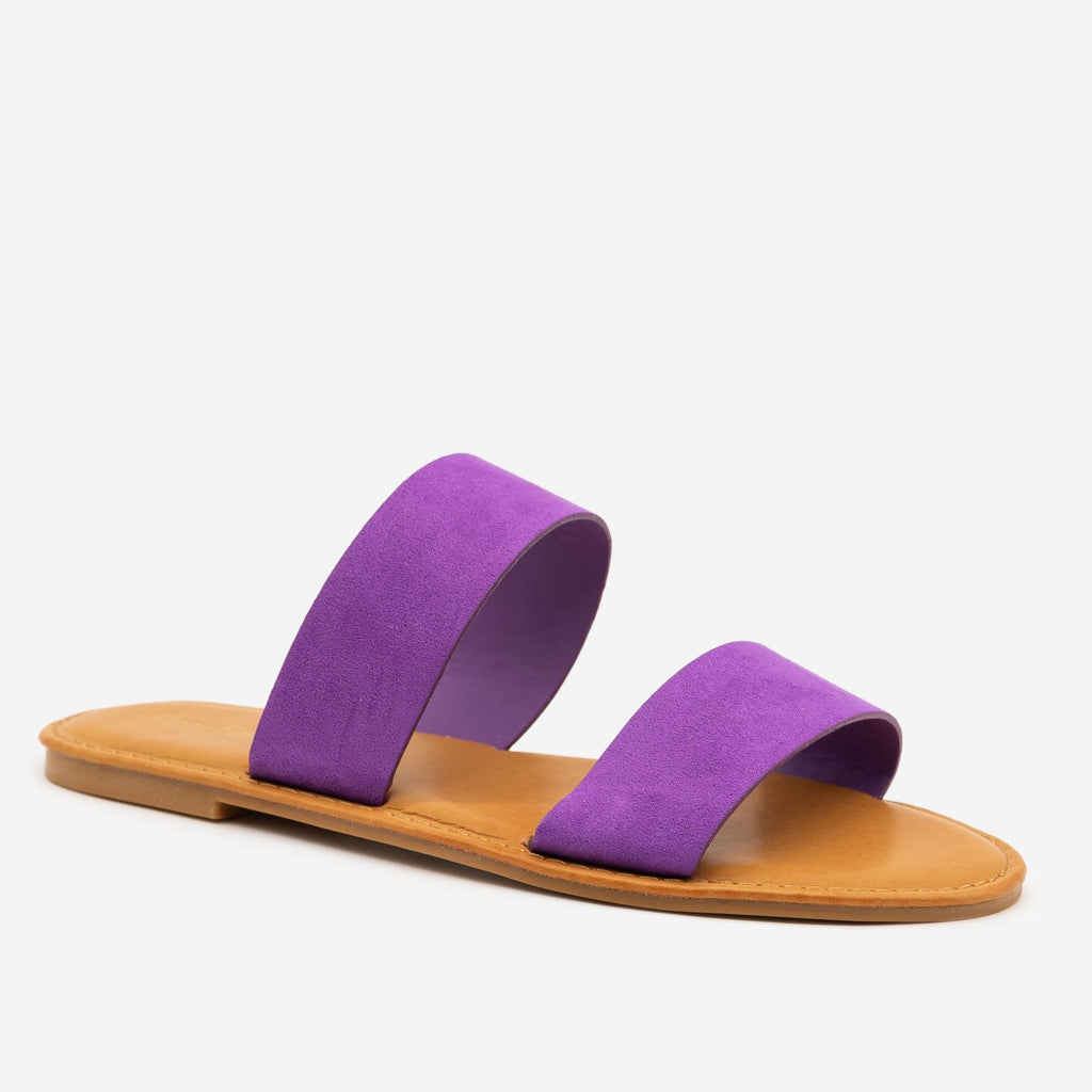 Women's Statement Sandals - Sunny Feet - Purple / 5
