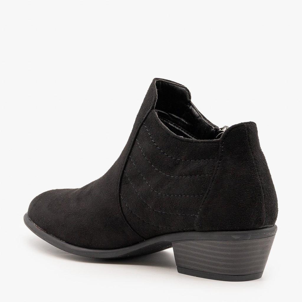 Womens Stitch Accented Fall Booties - Wild Diva Shoes