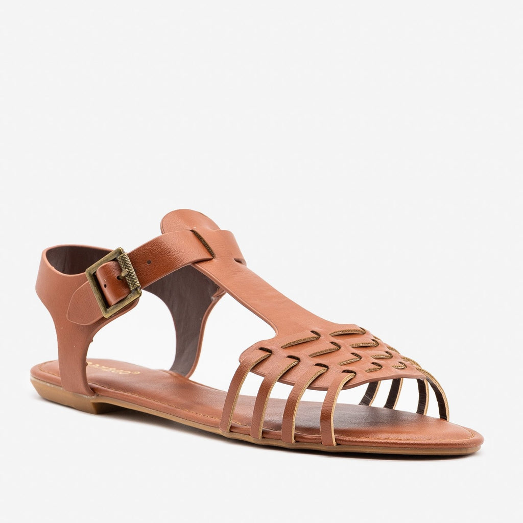 Women's Strappy Chic Summer Sandals - Bamboo Shoes