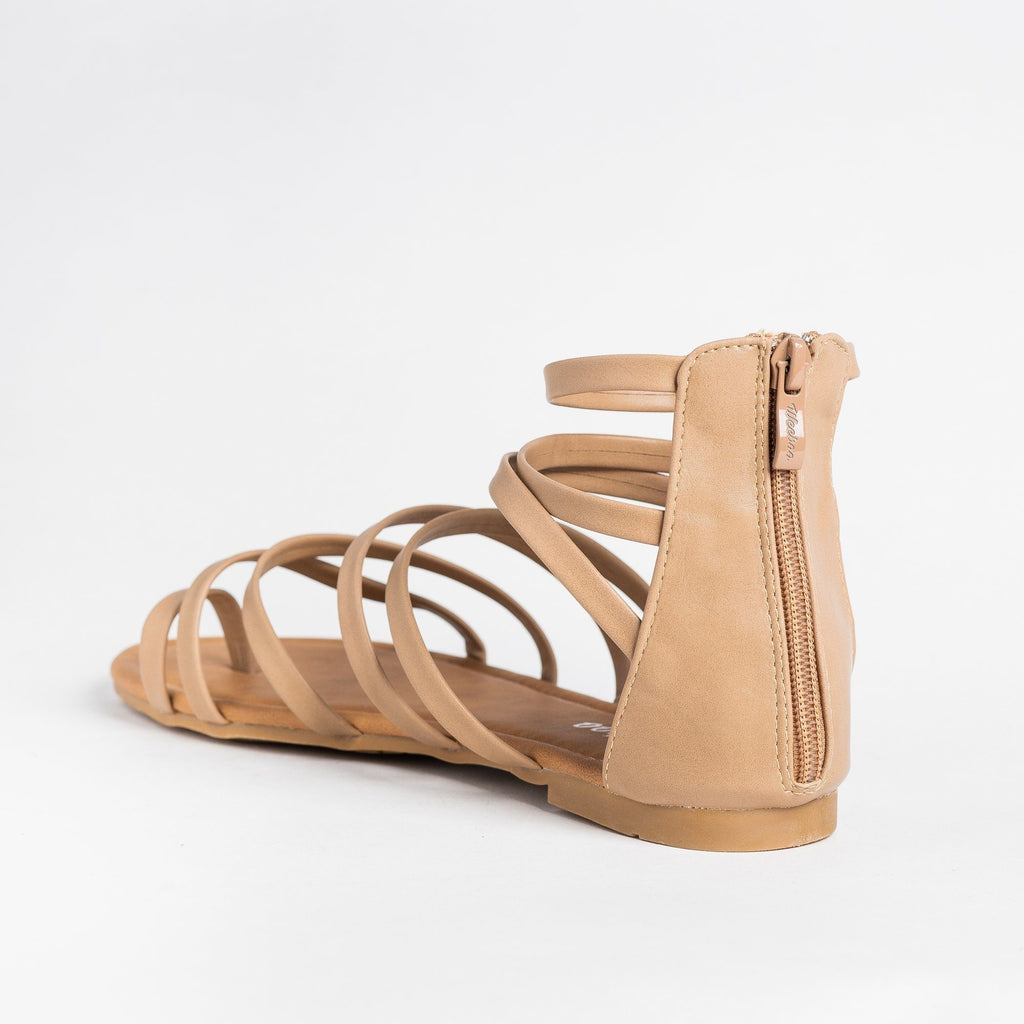 Womens Strappy Gladiator Sandal - Weeboo