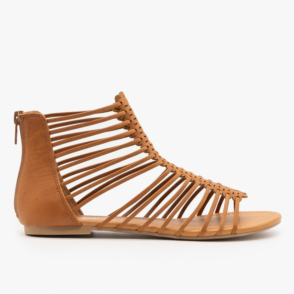 Womens Strappy Gladiator Sandals - Soda Shoes