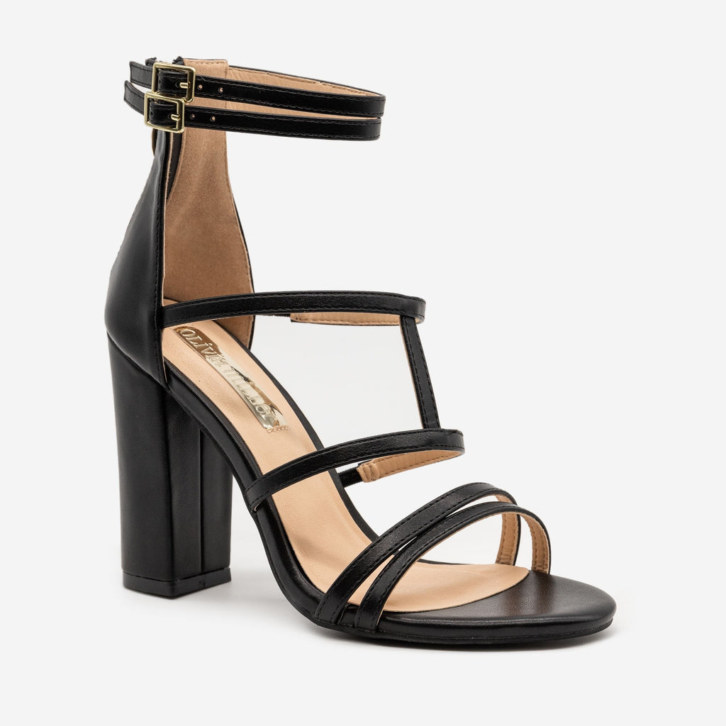 Women's Strappy High Heel Sandals - Olivia Miller