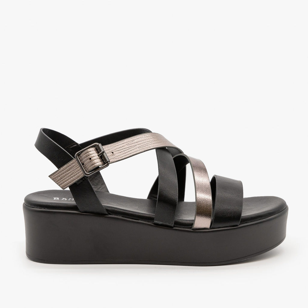 Womens Strappy Platform Sandal - Bamboo Shoes